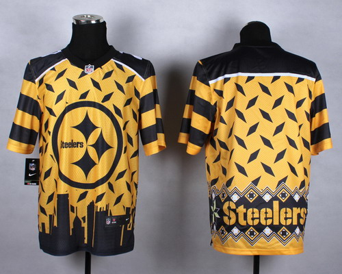 Nike Pittsburgh Steelers Blank 2015 Noble Fashion Elite Jersey