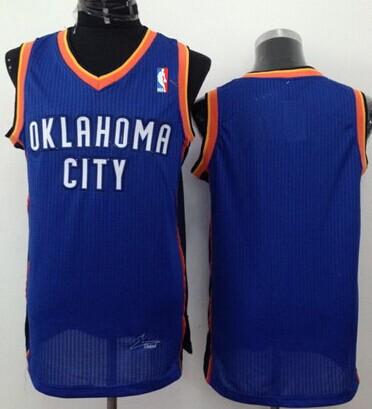Oklahoma City Thunder Blank Blue Swingman Jersey