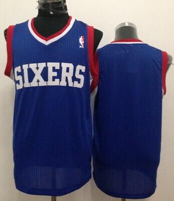 Philadelphia 76ers Blank Blue Swingman Jersey
