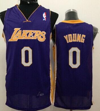 Los Angeles Lakers #0 Nick Young Purple Swingman Jersey