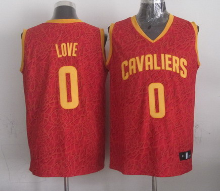 Cleveland Cavaliers #0 Kevin Love Red Leopard Print Fashion Jersey