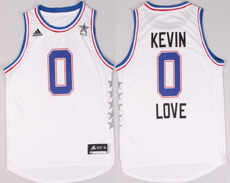 2015 NBA Eastern All-Stars #0 Kevin Love Revolution 30 Swingman White Jersey