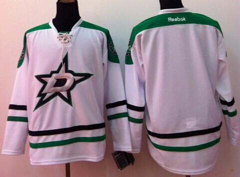 Dallas Stars Blank 2013 White Jersey