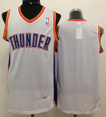 Oklahoma City Thunder Blank White Swingman Jersey