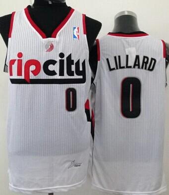 Portland Trail Blazers #0 Damian Lillard Rip City White Swingman Jersey