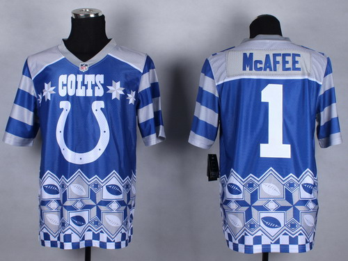 Nike Indianapolis Colts #1 Pat McAfee 2015 Noble Fashion Elite Jersey