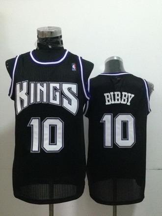 Sacramento Kings #10 Mike Bibby Black Swingman Jersey