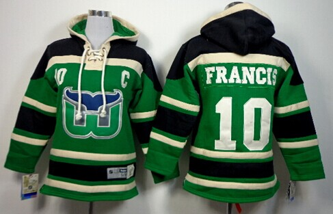 Old Time Hockey Hartford Whalers #10 Ron Francis Black Kids Hoodie