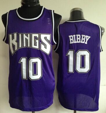 Sacramento Kings #10 Mike Bibby Purple Swingman Jersey