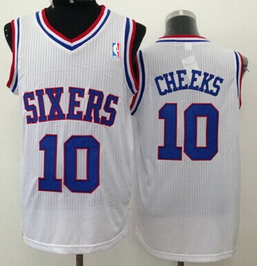 Philadelphia 76ers #10 Maurice Cheeks White Swingman Jersey