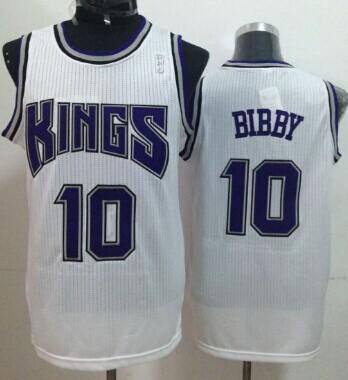 Sacramento Kings #10 Mike Bibby White Swingman Jersey