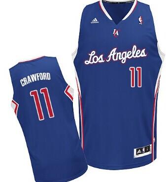 Los Angeles Clippers #11 Jamal Crawford Blue Swingman Jersey