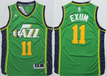 Utah Jazz #11 Dante Exum Revolution 30 Swingman 2014 New Green Jersey