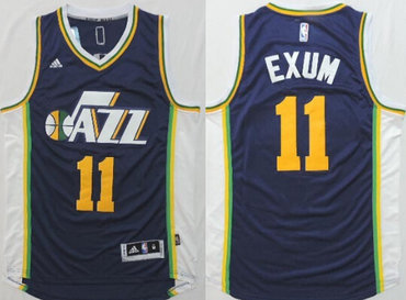 Utah Jazz #11 Dante Exum Revolution 30 Swingman 2014 New Navy Blue Jersey