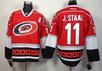 Carolina Hurricanes #11 Jordan Staal Red Third Jersey