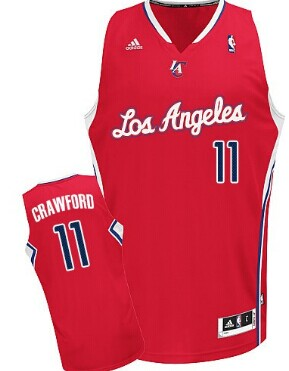 Los Angeles Clippers #11 Jamal Crawford Red Swingman Jersey