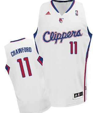 Los Angeles Clippers #11 Jamal Crawford White Swingman Jersey