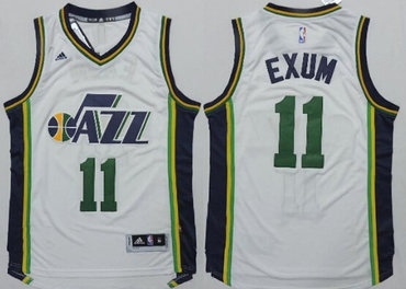 Utah Jazz #11 Dante Exum Revolution 30 Swingman 2014 New White Jersey
