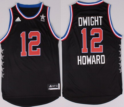 2015 NBA Western All-Stars #12 Dwight Howard Revolution 30 Swingman Black Jersey