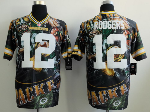 Nike Green Bay Packers #12 Aaron Rodgers 2014 Fanatic Fashion Elite Jersey