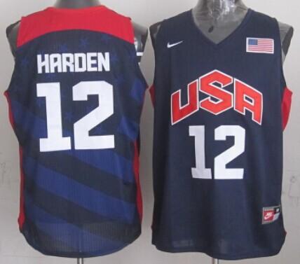 2012 Olympics Team USA #12 James Harden Revolution 30 Swingman Blue Jersey