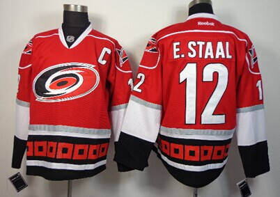 Carolina Hurricanes #12 Eric Staal Red Third Jersey