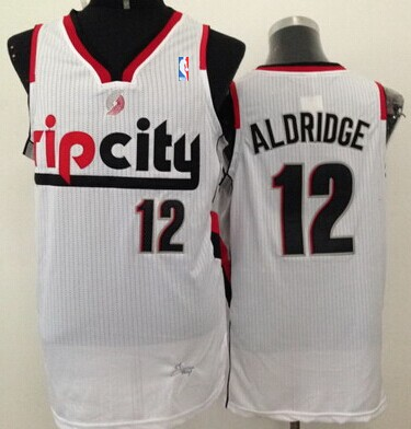 Portland Trail Blazers #12 LaMarcus Aldridge Rip City White Swingman Jersey