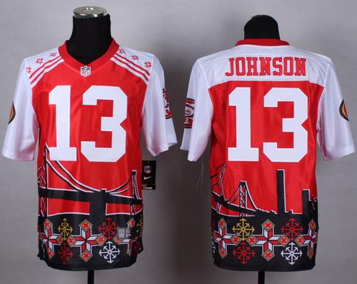 Nike San Francisco 49ers #13 Steve Johnson 2015 Noble Fashion Elite Jersey