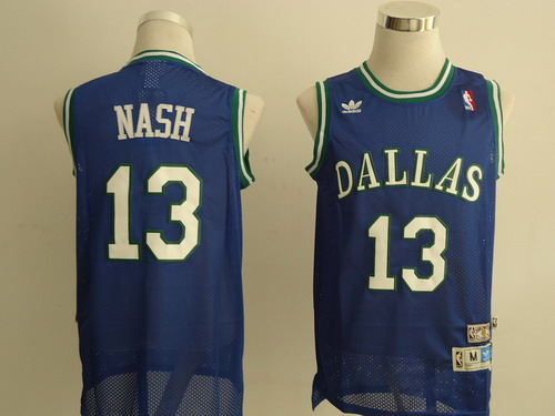Dallas Mavericks #13 Steve Nash Light Blue Swingman Throwback Jersey