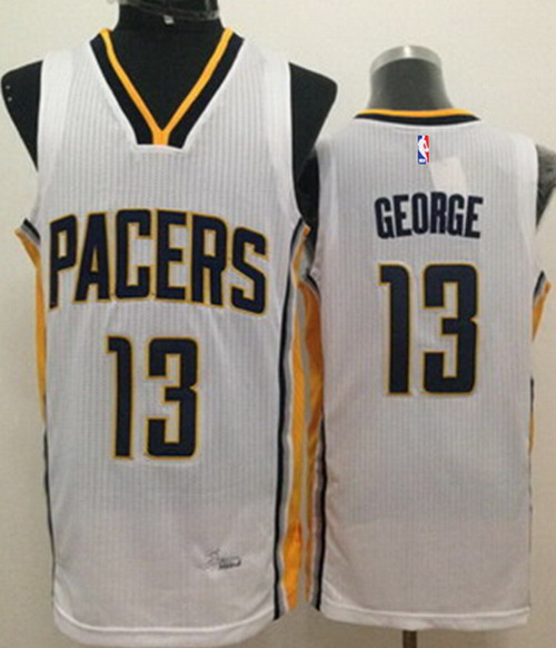 Indiana Pacers #24 Paul George Revolution 30 Swingman White Jersey