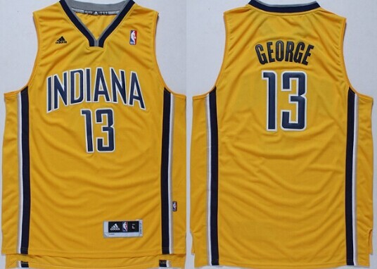 Indiana Pacers #13 Paul George Revolution 30 Swingman Yellow Jersey
