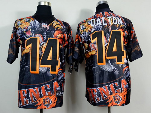 Nike Cincinnati Bengals #14 Andy Dalton 2014 Fanatic Fashion Elite Jersey