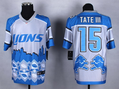 Nike Detroit Lions #15 Golden Tate III 2015 Noble Fashion Elite Jersey
