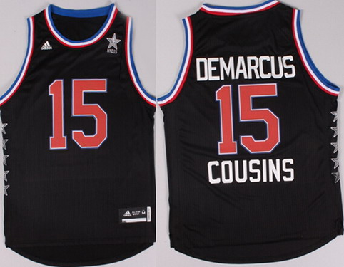 2015 NBA Western All-Stars #15 DeMarcus Cousins Revolution 30 Swingman Black Jersey
