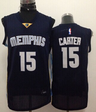 Memphis Grizzlies #15 Vince Carter Navy Blue Swingman Jersey