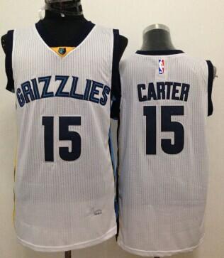 Memphis Grizzlies #15 Vince Carter White Swingman Jersey