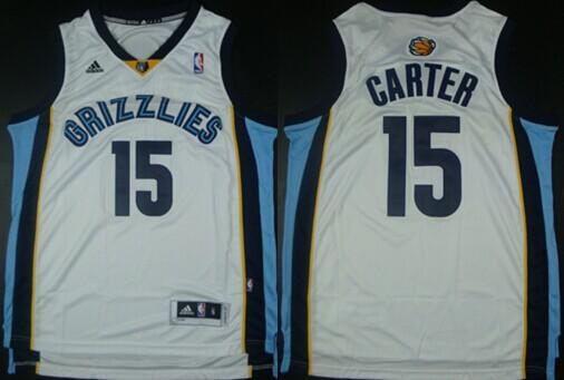 Memphis Grizzlies #15 Vince Carter Revolution 30 Swingman White Jersey