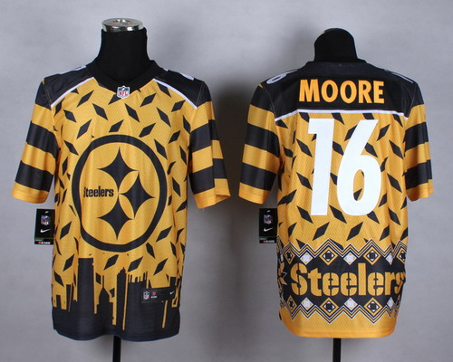 Nike Pittsburgh Steelers #16 Lance Moore 2015 Noble Fashion Elite Jersey