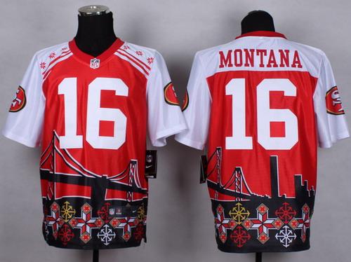 Nike San Francisco 49ers #16 Joe Montana 2015 Noble Fashion Elite Jersey