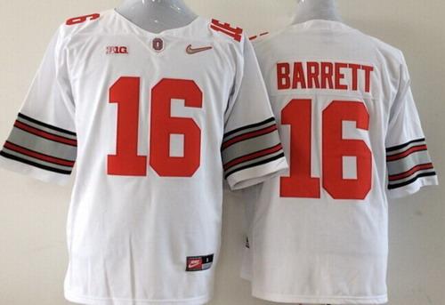 Ohio State Buckeyes #16 J.T. Barrett 2014 White Limited Kids Jersey