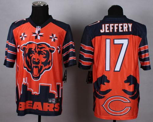 Nike Chicago Bears #17 Alshon Jeffery 2015 Noble Fashion Elite Jersey