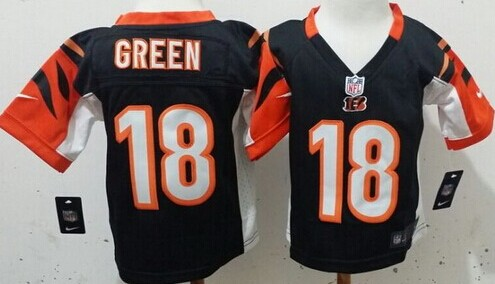 Nike Cincinnati Bengals #18 A.J. Green Black Toddlers Jersey