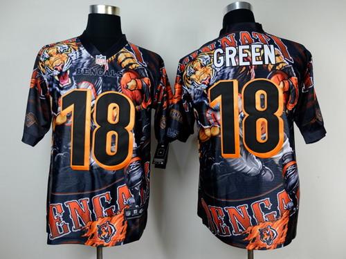 Nike Cincinnati Bengals #18 A.J. Green 2014 Fanatic Fashion Elite Jersey