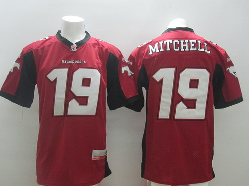 CFL Calgary Stampeders #19 Bo Levi Mitchell Red Jersey