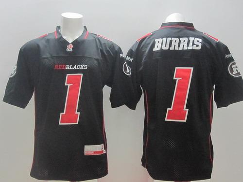 CFL Ottawa RedBlacks #1 Henry Burris Black Jersey
