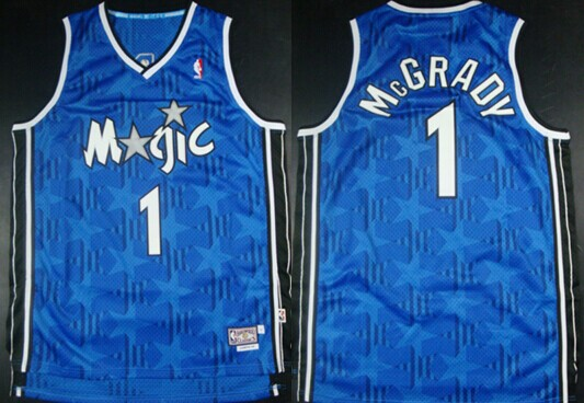 Orlando Magic #1 Tracy McGrady Blue All-Star Swingman Throwback Jersey