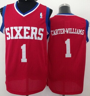 Philadelphia 76ers #1 Michael Carter-Williams Red Swingman Jersey