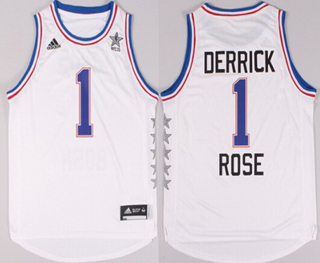 2015 NBA Eastern All-Stars #1 Derrick Rose Revolution 30 Swingman White Jersey