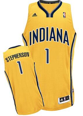 Indiana Pacers #1 Lance Stephenson Yellow Swingman Jersey