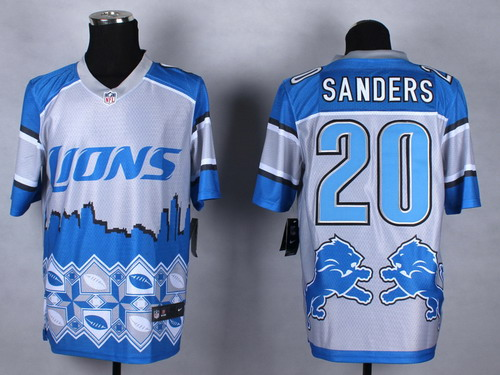 Nike Detroit Lions #20 Barry Sanders 2015 Noble Fashion Elite Jersey